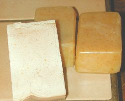 Shaved and Unshaved Soap Bars