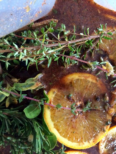 English Thyme citrus marinade